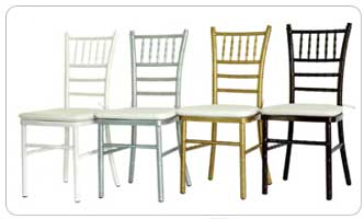 Chiavari chairs for ceremony and/or reception tables