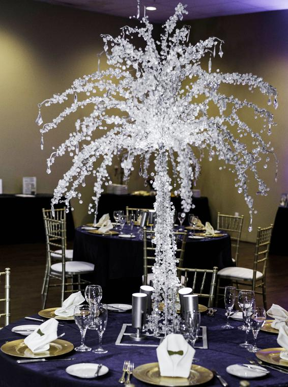 Crystal Trees for wedding reception tables