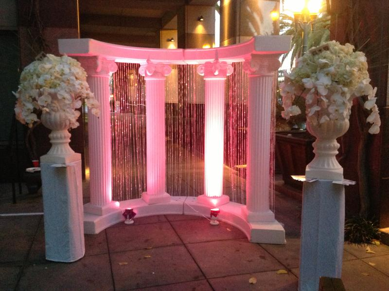 Columns for Arch with Crystal Curtains