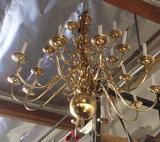 Large Gold Chandelier for rent
