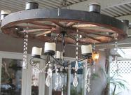 Wagon Wheel Chandelier for rent
