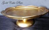 Gold Glass Cake Plate