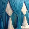 Classic two color curtain backdrop