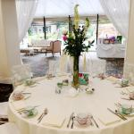 Tea Party setup for a bridal shower at The DoubleTree Downtown Los Angeles