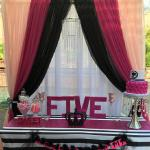 Colorful custom Dessert Table Backdrop